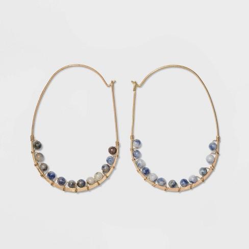 Brass Hoop Earrings - Universal Thread™ - image 1 of 2