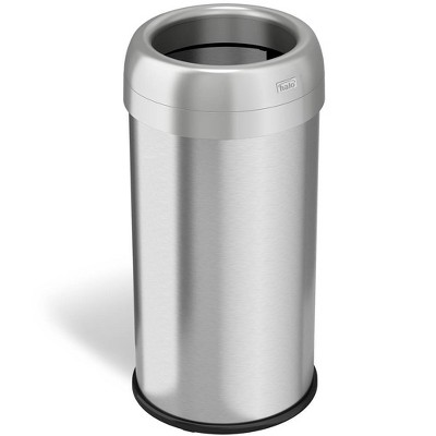 halo quality 16gal Round Top Stainless Steel Trash Can and Recycle Bin with Dual Deodorizer