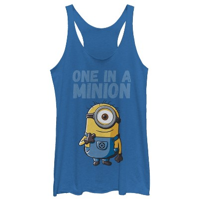 Women's Despicable Me Cute One in a Minion Racerback Tank Top