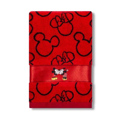 Mickey Mouse & Friends Mickey/Minnie Mouse Bath Towel Red