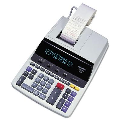 Sharp EL2630PIII Two-Color Printing Calculator Black/Red Print 4.8 Lines/Sec