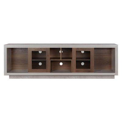 """Iohomes Valla Industrial Tv Stand 70"""" Distressed Walnut - HOMES: Inside + Out"""