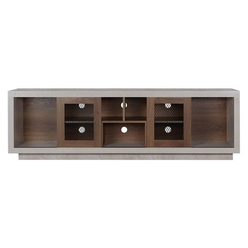 """70"""" Valla Industrial TV Stand Distressed Walnut - ioHOMES - image 1 of 3"""