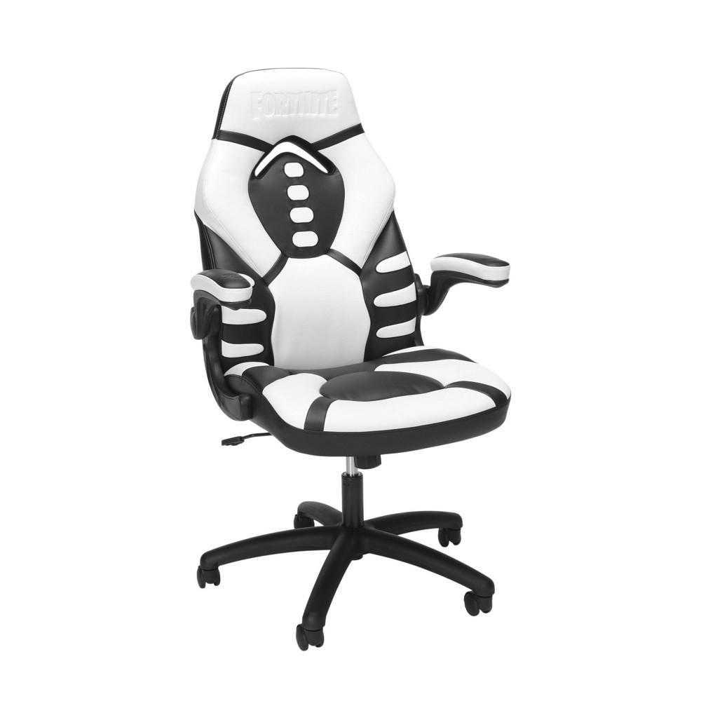 Victory is in your bones! What better chair to claim victory in than the Fortnite Skull Trooper gaming chair? The chair was designed with ergonomics in mind. With contoured segmented padding, a high back, and integrated headrest and lumbar support, this chair provides high-performance comfort whether used during intense gaming sessions or long workdays. The thickly padded armrests can be left down for upper body support or flipped up to allow for uninhibited movement whenever you need it. Additional features include seat height adjustment, tilt-lock/tilt-tension control, and 360-degree swivel. This racing style gaming chair is backed by our RESPAWN by OFM Limited Lifetime Warranty and features a 275 lb weight capacity. You + Skull Trooper = competition eliminated! Gender: unisex. Pattern: Solid.