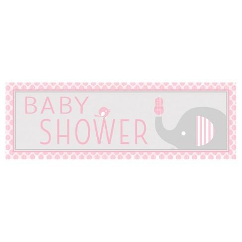 Little Peanut Girl Elephant Giant Baby Shower Banner Target