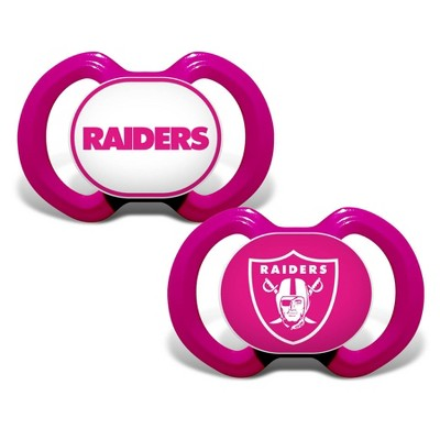 NFL Oakland Raiders Pink Pacifiers 2pk