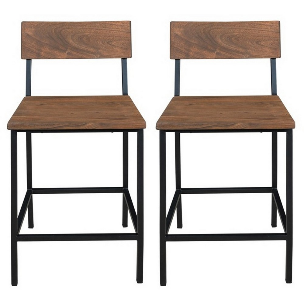 Set Of 2 Sequoia Natural Counter Height Ding Chairs Honey Brown - Treasure Trove