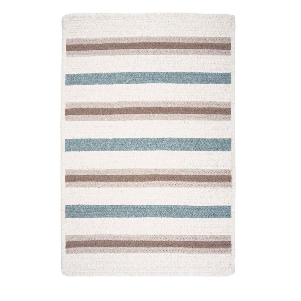 Uptown Stripe Braided Area Rug Gray