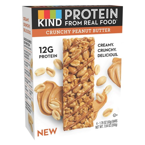 KIND Protein Crunchy Peanut Butter Protein Bar 4ct / 1.76oz - image 1 of 3