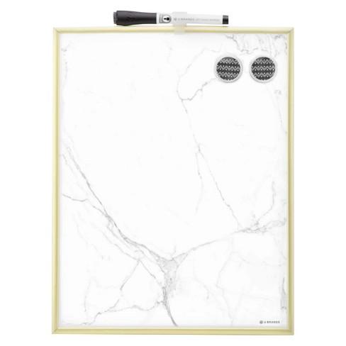 Ubrands® Marble Dry Erase Board Gold Frame 11\