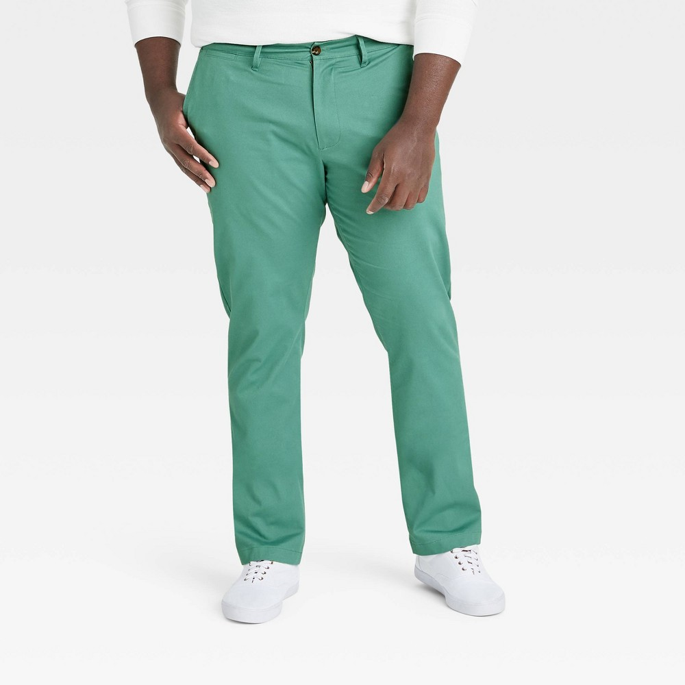 Men 39 S Big 38 Tall Athletic Fit Hennepin Chino Pants Goodfellow 38 Co 8482 Dusky Green 48x34