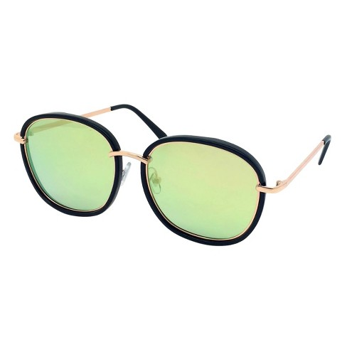 f84459eea66 Women s Oversized Sunglasses - Black Gold   Target