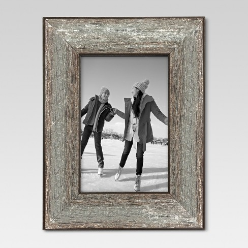 """4"""" x 6"""" Aged Wood Frame Silver - Threshold™ - image 1 of 3"""