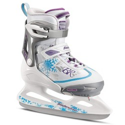Rollerblade Bladerunner Micro Ice G Girls Adjustable Skates, Small, White/Blue