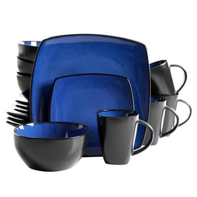 Gibson Home 16pc Stoneware Infinite Glaze Dinnerware Set