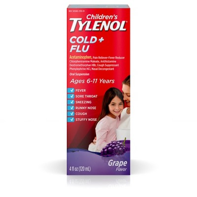 Pain Relievers: Tylenol Cold + Flu