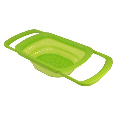 Squish 6qt Over the Sink Expandable Colander - Green