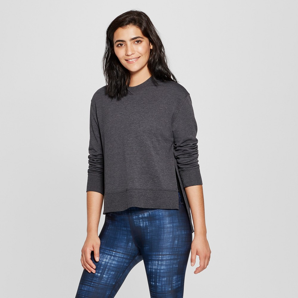 Women's Cozy Layering Sweatshirt - JoyLab Charcoal Gray Heather Xxl, Charcoal Grey Heather