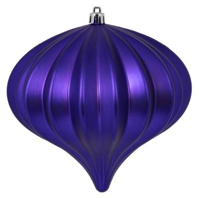 """3ct Vickerman 5.7"""" Matte Onion Ornament, UV Coated Ornament Set Purple"""