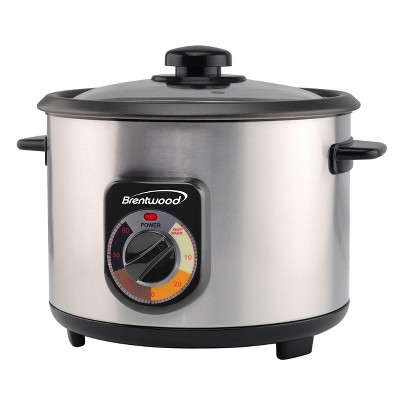 Brentwood 5 Cup Uncooked/10 Cup Cooked Crunchy Persian Rice Cooker in Silver