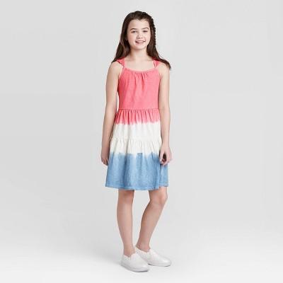 Girls' Dip Dye Dress - Cat & Jack™ Pink/Blue M