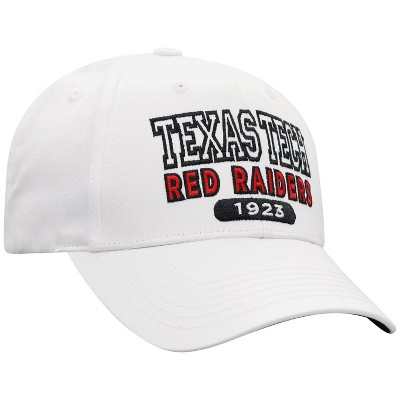 NCAA Texas Tech Red Raiders Men's White Twill Structured Snapback Hat