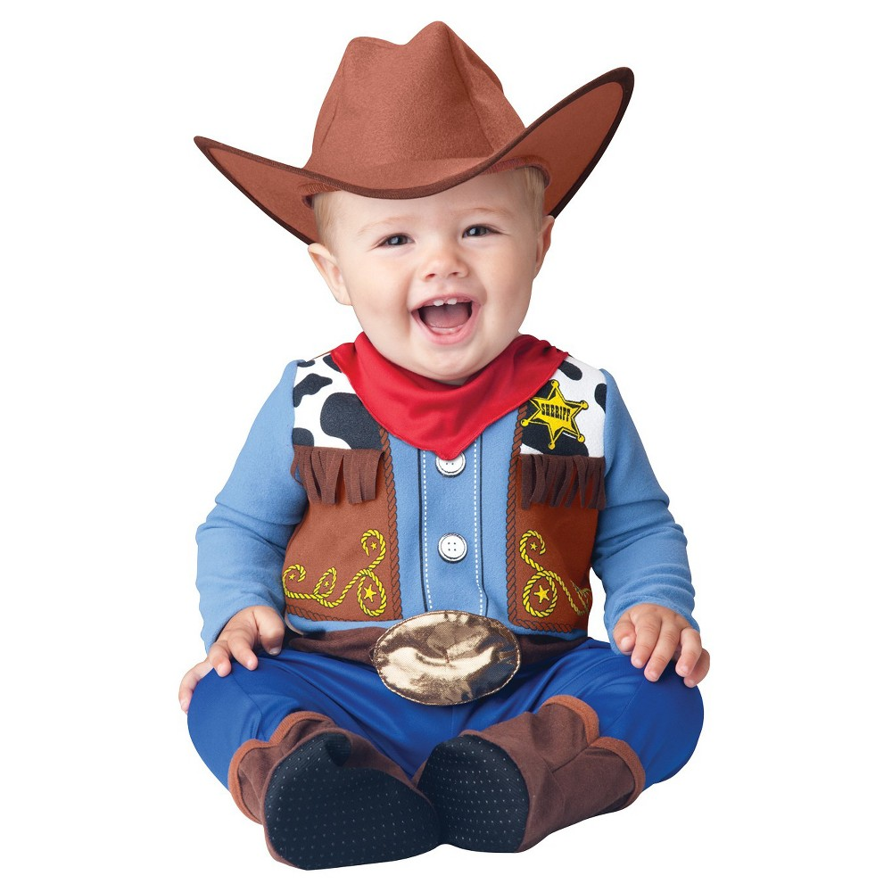 Image of Halloween Boys' Wee Wrangler Toddler Costume 18-24 Months, Boy's, Size: 18-24M, MultiColored