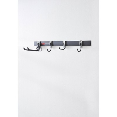Rubbermaid 5pc FastTrack Garage Storage All-in-One Rail & Hook Wall Hanging Kit