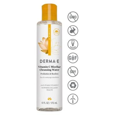 Derma E Vitamin C Micellar Water   6oz by 6oz
