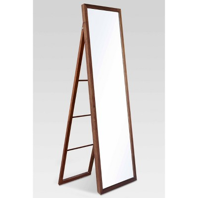 "20"" x 65"" Wood Ladder Standing Mirror Walnut - Threshold™"