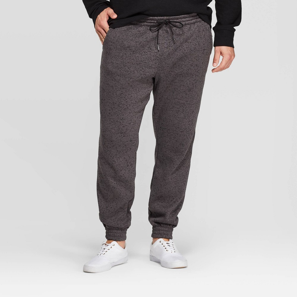 Men's Big & Tall Jogger Pants - Goodfellow & Co Dark Heather Gray 5XBT, Men's, Dark Grey Gray was $24.99 now $17.49 (30.0% off)