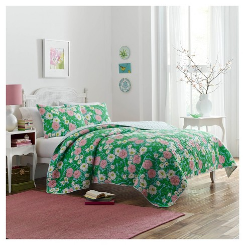 Poppy Garden Quilt Set King - Green - Poppy & Fritz® - image 1 of 1