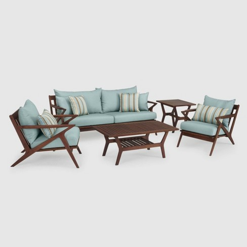 Vaughn 5pc Seating Set Blue SolarFast - RST Brands - image 1 of 4