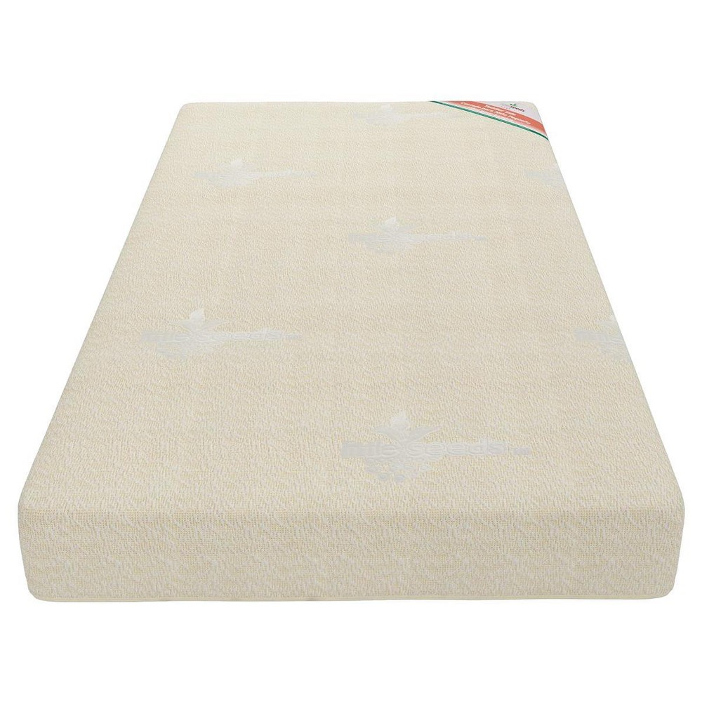 Crib Toddler Mattress with Certipur - Us Certified Foam - Little Seeds, White