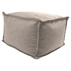 Outdoor Bean Filled Pouf/Ottoman In Jackson Oyster  - Jordan Manufacturing