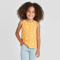 Toddler Girls' Floral Tank Top - Cat & Jack™ Yellow