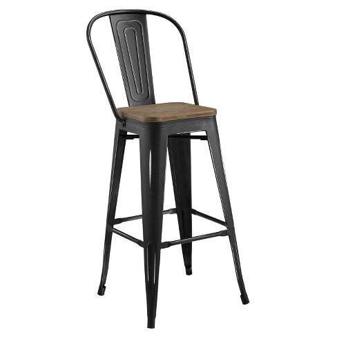 Super Promenade Metal Bar Stool Modway Machost Co Dining Chair Design Ideas Machostcouk