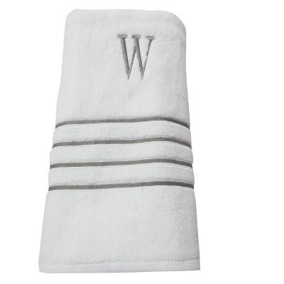 Monogram Bath Towel W - White/Skyline Gray - Fieldcrest®