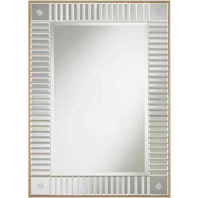 "Noble Park Newsalle Antique Gold 28"" x 40"" Etched Corner Mirror"
