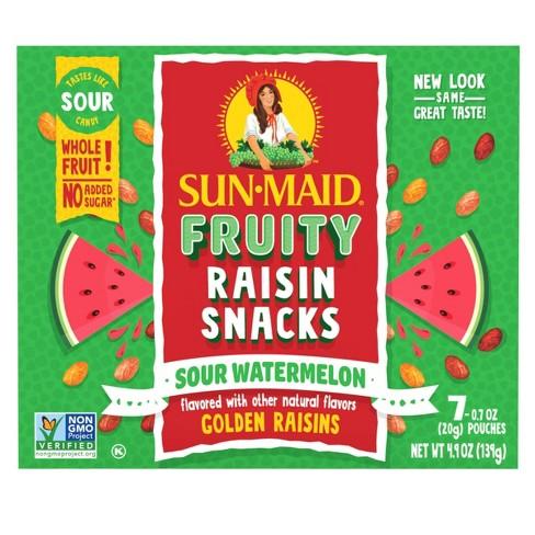 Sun-Maid Sour Raisin Watermelon Snacks - 7ct/4.9oz - image 1 of 4