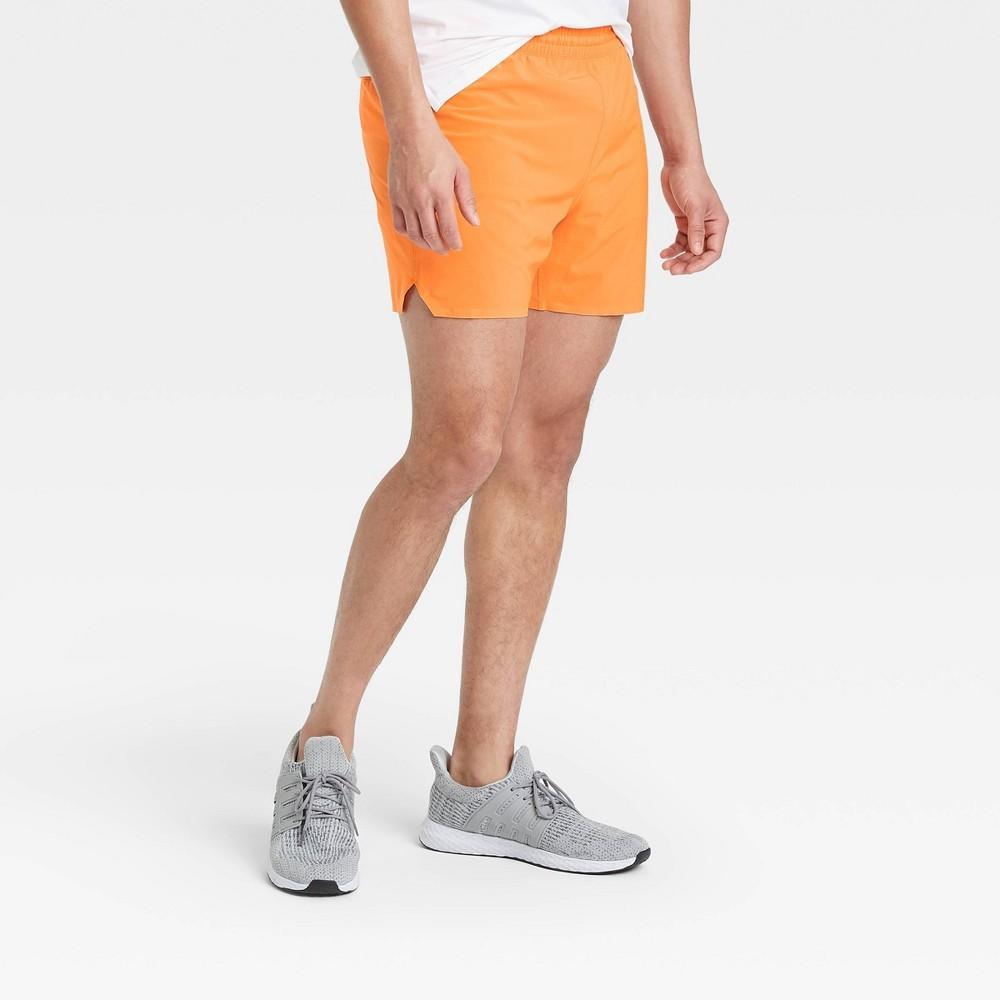 Men 39 S 5 34 Lined Run Shorts All In Motion 8482 Orange M