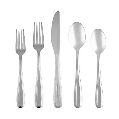 41pc Stainless Steel Waylen Mirror Silverware Set with Holder - Cambridge Silversmiths