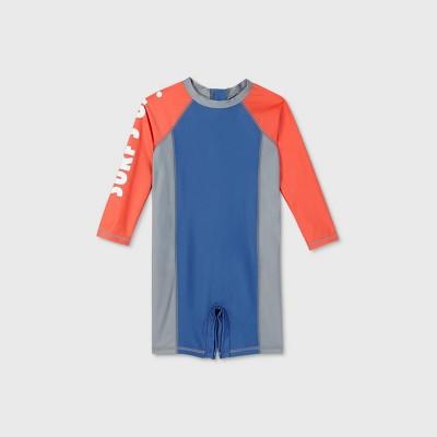 Toddler Boys' Long Sleeve One Piece Swimsuit - Cat & Jack™ Blue