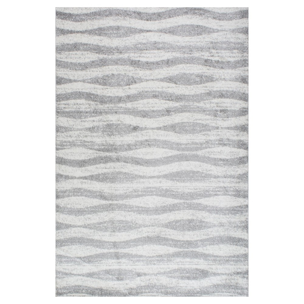 Sterling Gray Solid Loomed Area Rug - (7'6