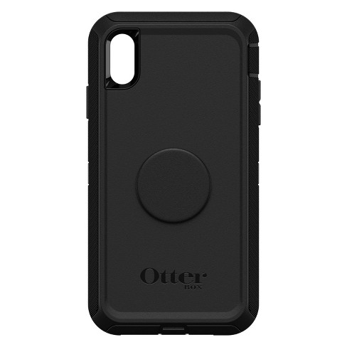 size 40 e7528 9c13e OtterBox Apple iPhone XS Max Otter + Pop Defender Case (With PopTop) - Black