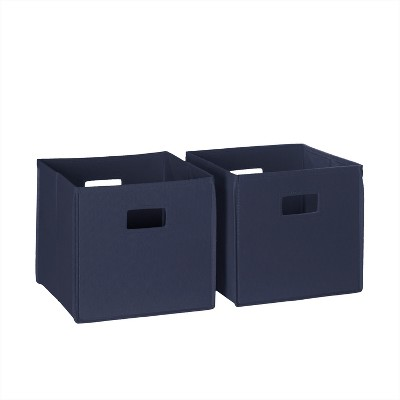 2pc Folding Toy Storage Bin Set Navy - RiverRidge