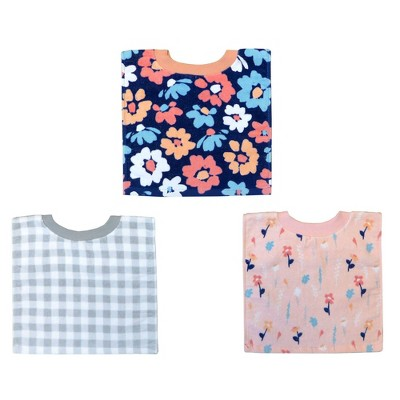 Neat Solutions Printed Pullover Toddler Bib Set Girl - Floral - 3pk