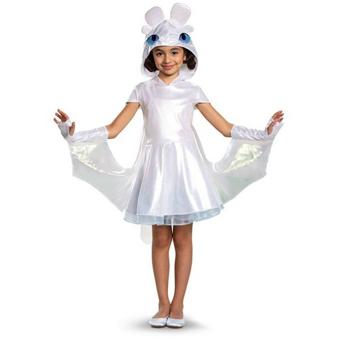 Girls' Light Fury Deluxe Halloween Costume  - image 1 of 2