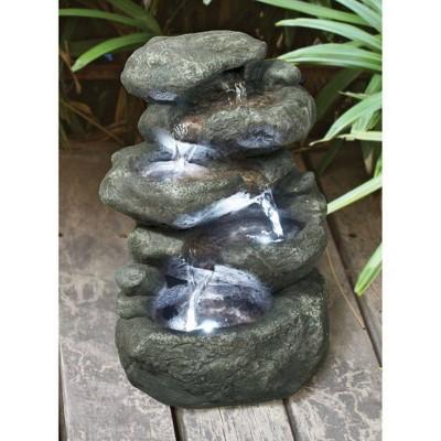 Anchor Falls Cascading Garden Fountain - Acorn Hollow