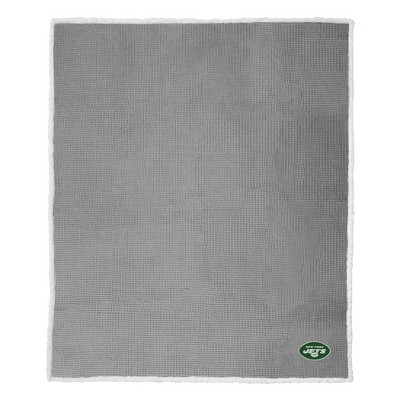 NFL New York Jets Waffle Sherpa Throw Blanket